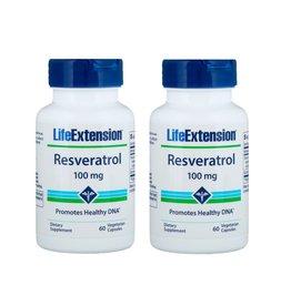 Life Extension Resveratrol, 60 Vegetarian Capsules, 2-packs