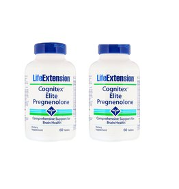 Life Extension Cognitex Elite Pregnenolone, 60 Tablets, 2-packs