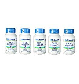 Life Extension CHOL-Support™, 60 Liquid Vegetarian Capsules, 5-packs