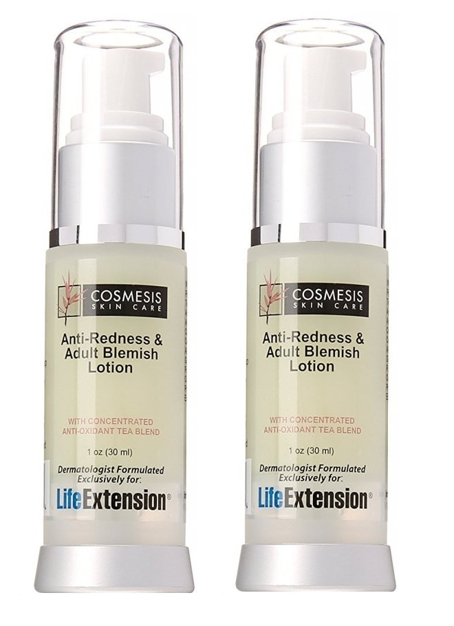 Life Extension Anti-Redness and Blemish Lotion, 1 Oz., 2-pack