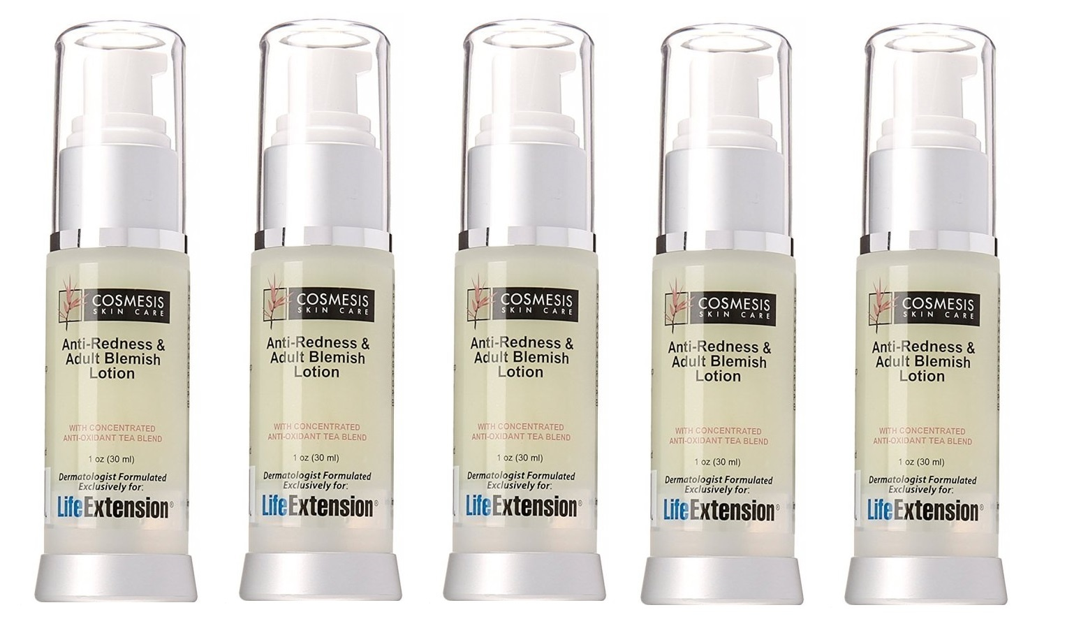 Life Extension Anti-Redness and Blemish Lotion, 1 Oz., 5-pack