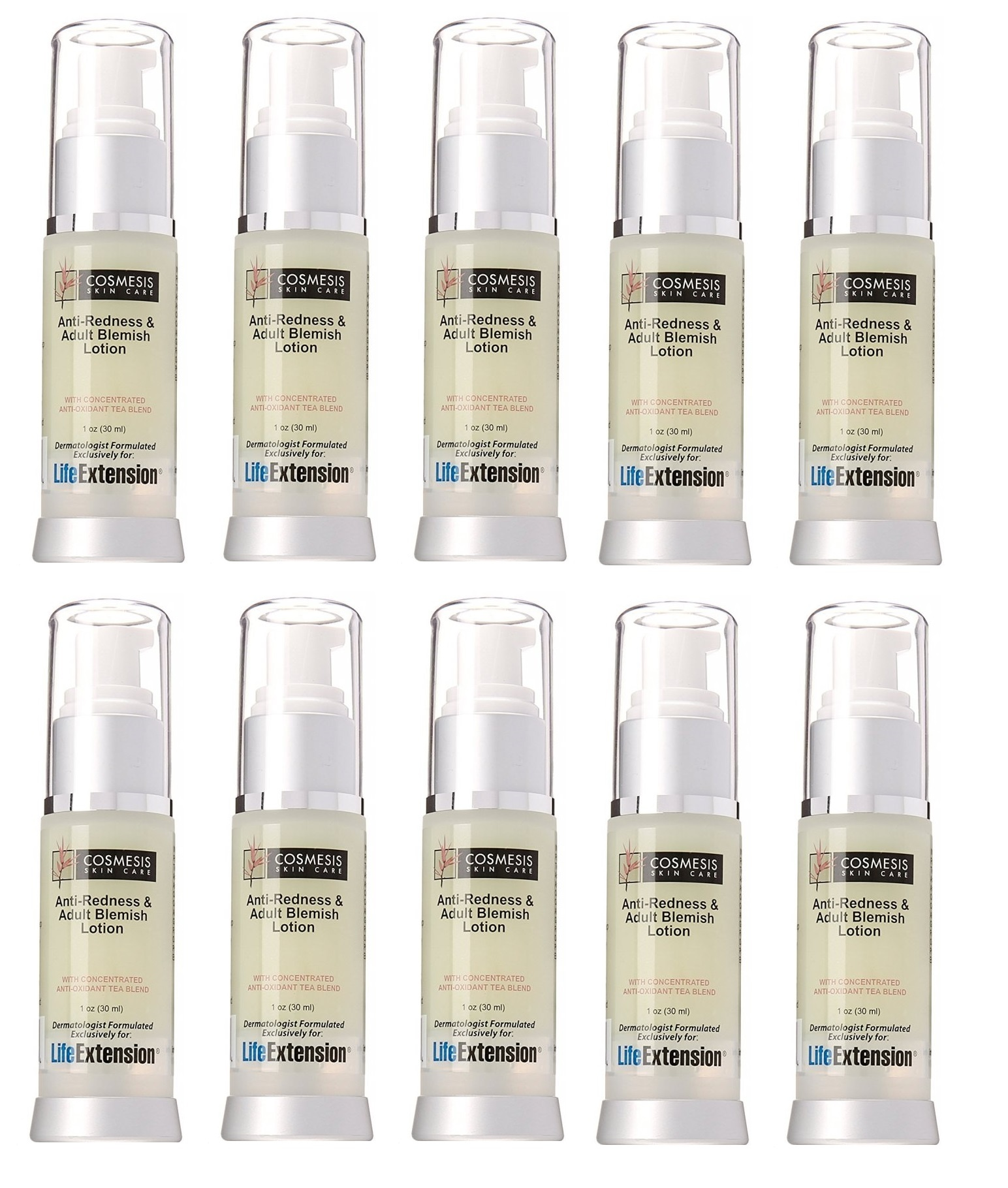 Life Extension Anti-Redness and Blemish Lotion, 1 Oz., 10-pack