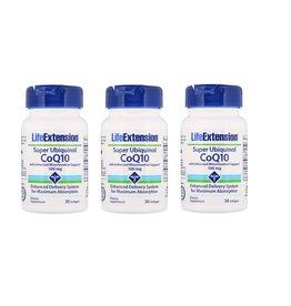 Life Extension Super Ubiquinol CoQ10 | 100 Mg 30 Softgels, 3-packs