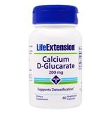 Life Extension Calcium D-Glucarate, 200 mg 60 vegetarian capsules