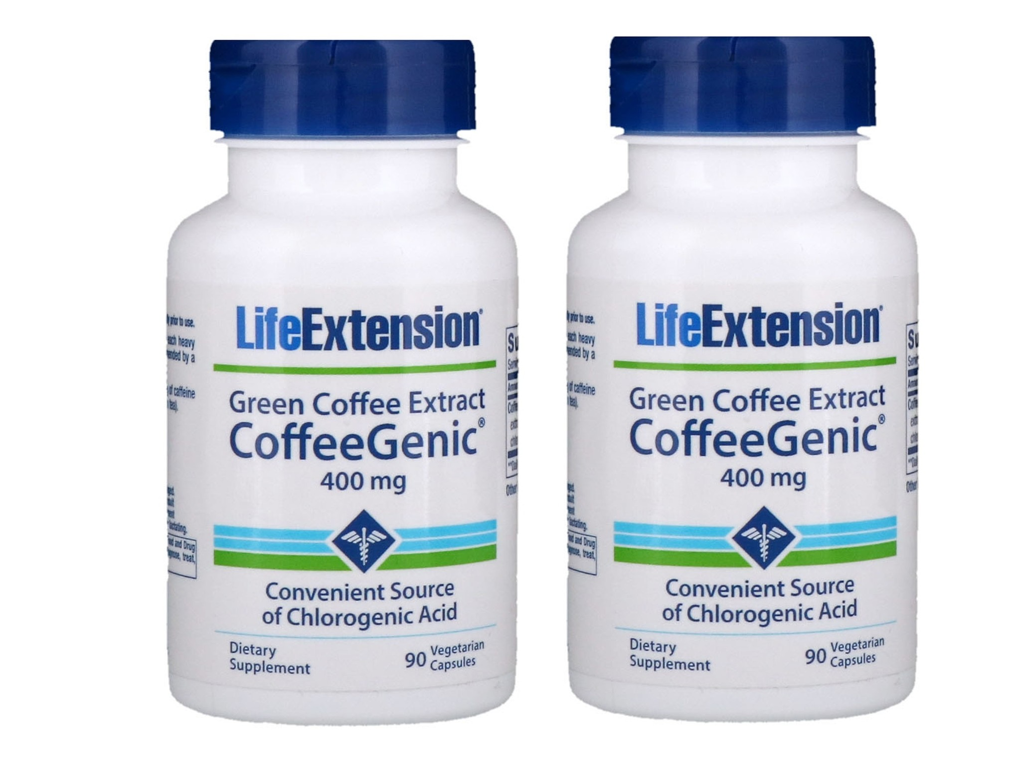 Life Extension CoffeeGenic® Green Coffee Extract, 90 Capsules, 2-packs