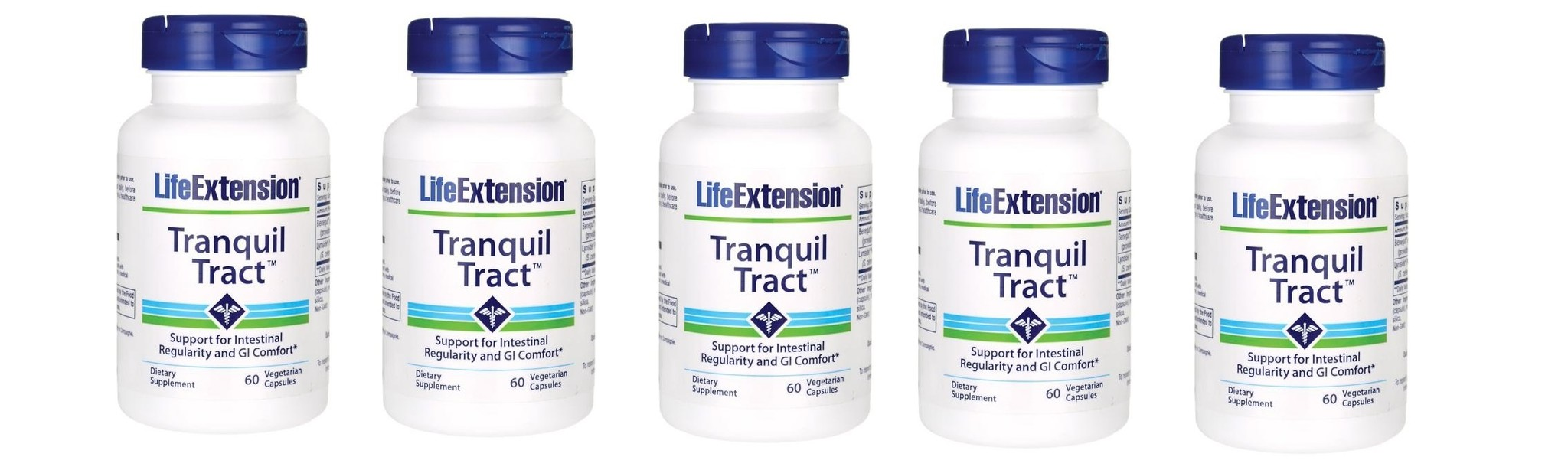 Life Extension Tranquil Tract, 60 Vegetarian Capsules, 5-packs