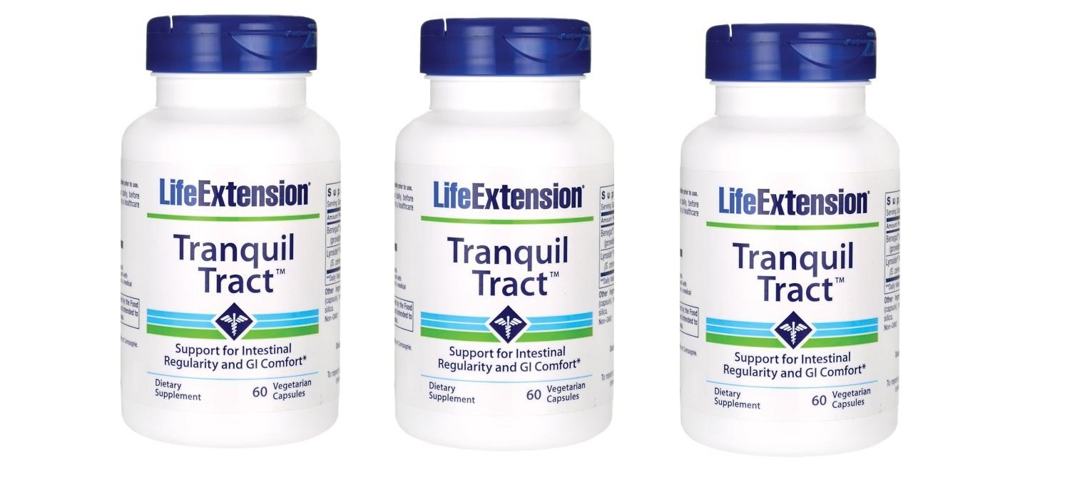 Life Extension Tranquil Tract, 60 Vegetarian Capsules, 3-packs