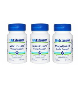 Life Extension Macuguard Ocular Support, 60 Softgels, 3-packs