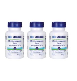 Life Extension Mediterranean Trim With Sinetrol-XPur, 60 Vegetarian Capsules, 3-packs