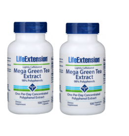 Life Extension Mega Green Tea Extract (Lightly Caffeinated), 2-packs