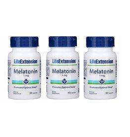 Life Extension Melatonin, 1 mg, 3-pack