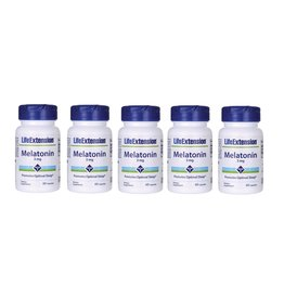 Life Extension Melatonin, 3 mg, 5-pack