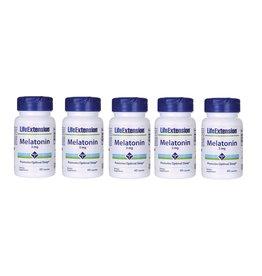 Life Extension Melatonin, 3 mg 60 Capsules, 5-pack