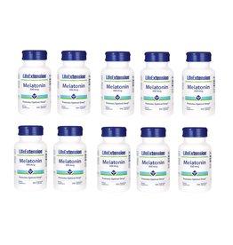 Life Extension Melatonin, 300 Mcg, 100 Vegetarian Capsules, 10-pack