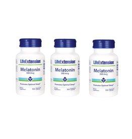 Life Extension Melatonin, 300 Mcg, 100 Vegetarian Capsules, 3-pack