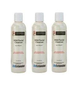 Life Extension Mild Facial Cleanser, 8 oz., 3-pack