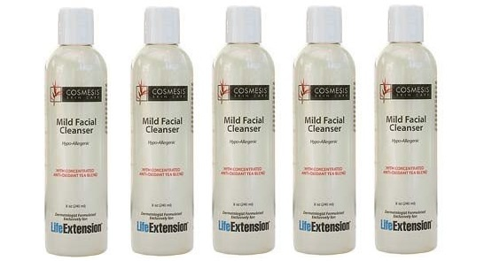 Life Extension Mild Facial Cleanser, 8 oz., 5-pack