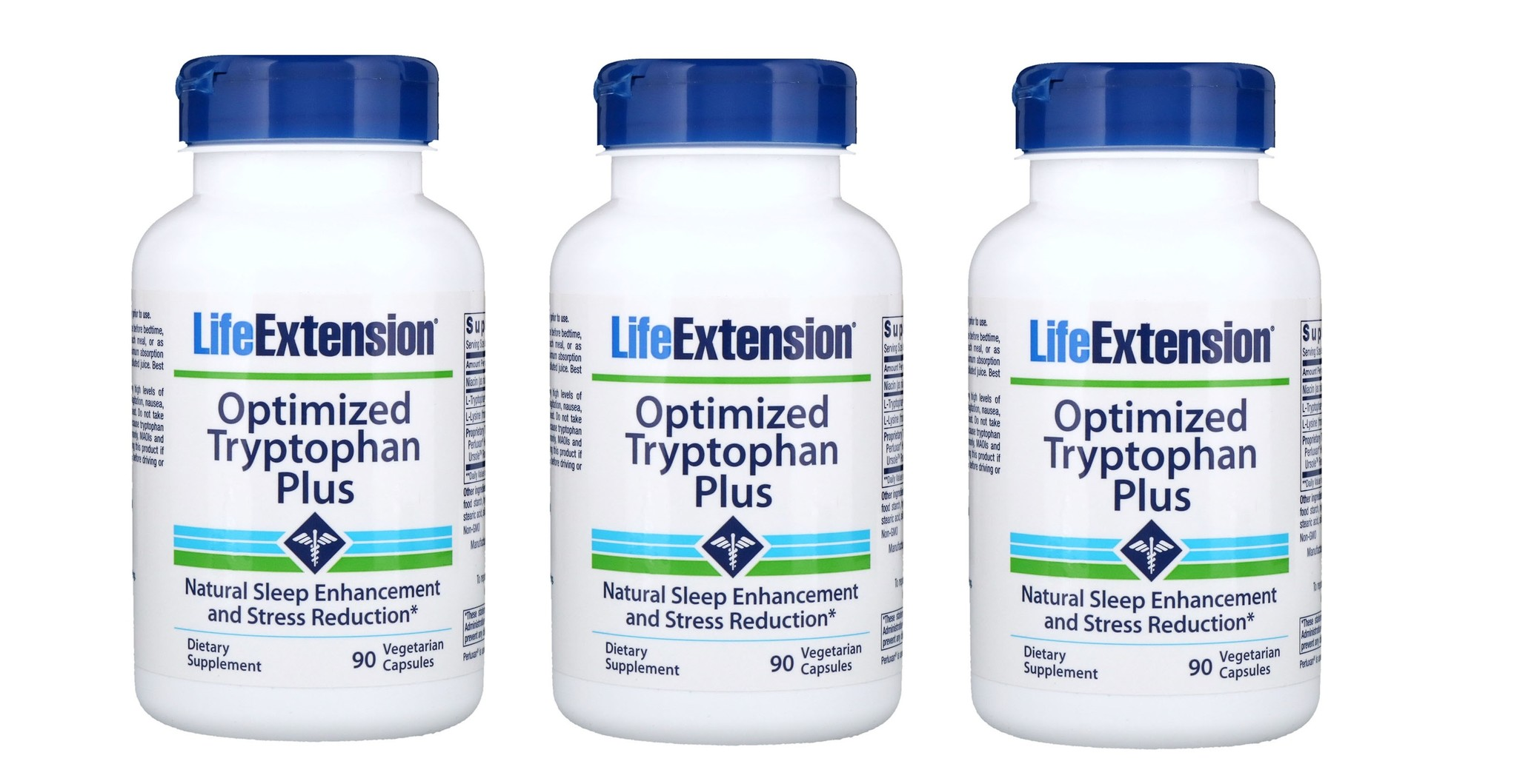 Life Extension Optimized Tryptophan Plus, 3-pack