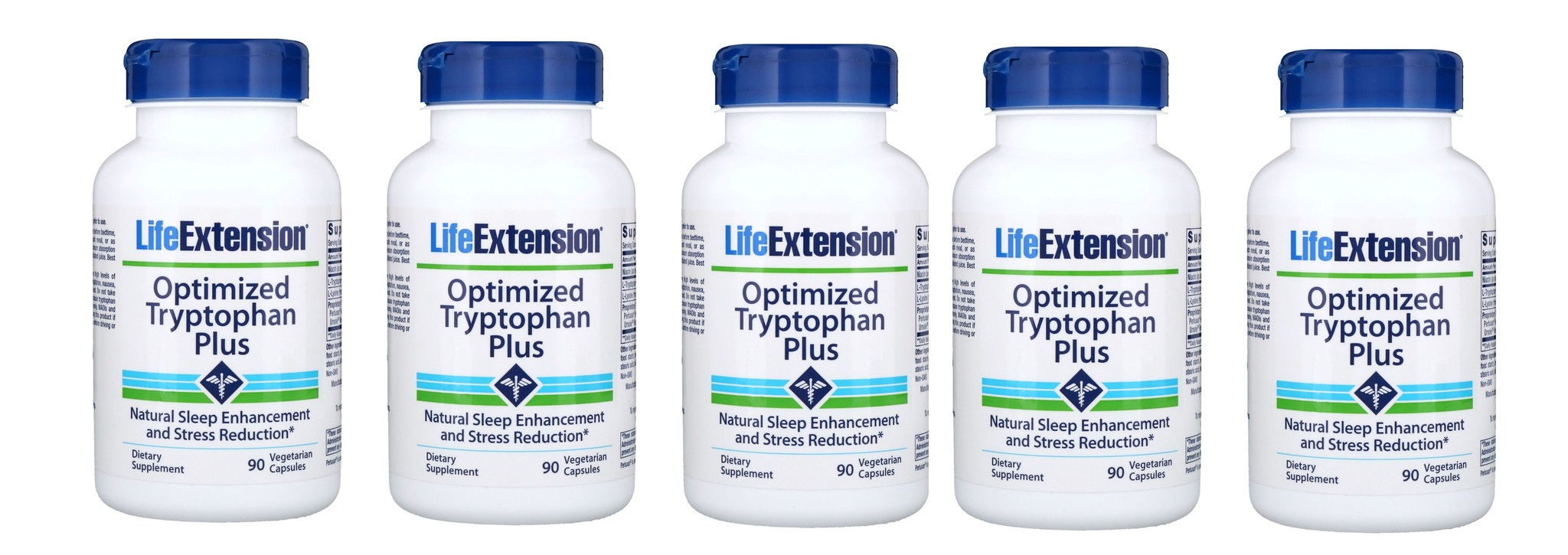 Life Extension Optimized Tryptophan Plus, 5-pack