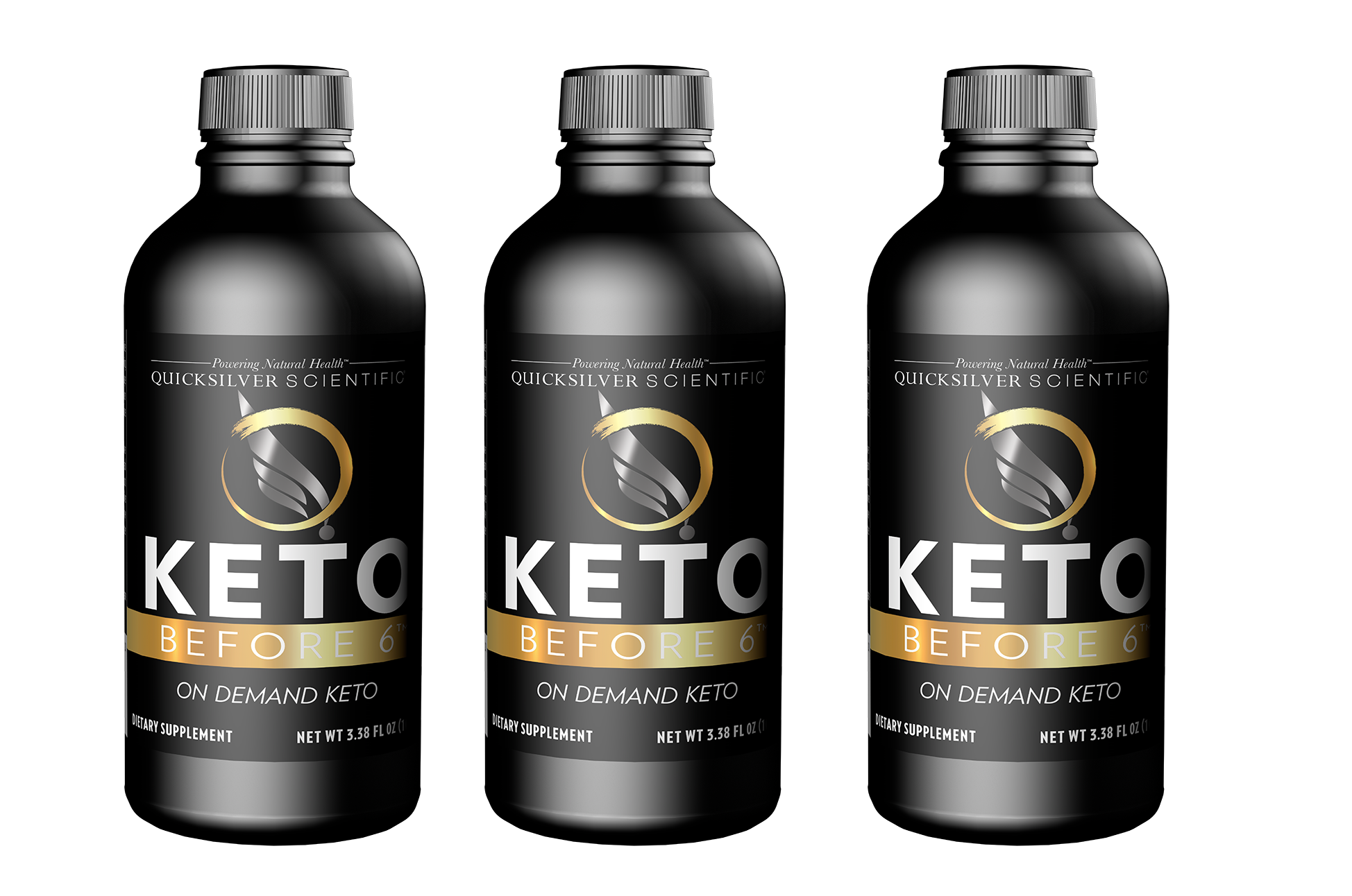 Quicksilver Scientific Keto Before 6™, 100ml, 3-pack