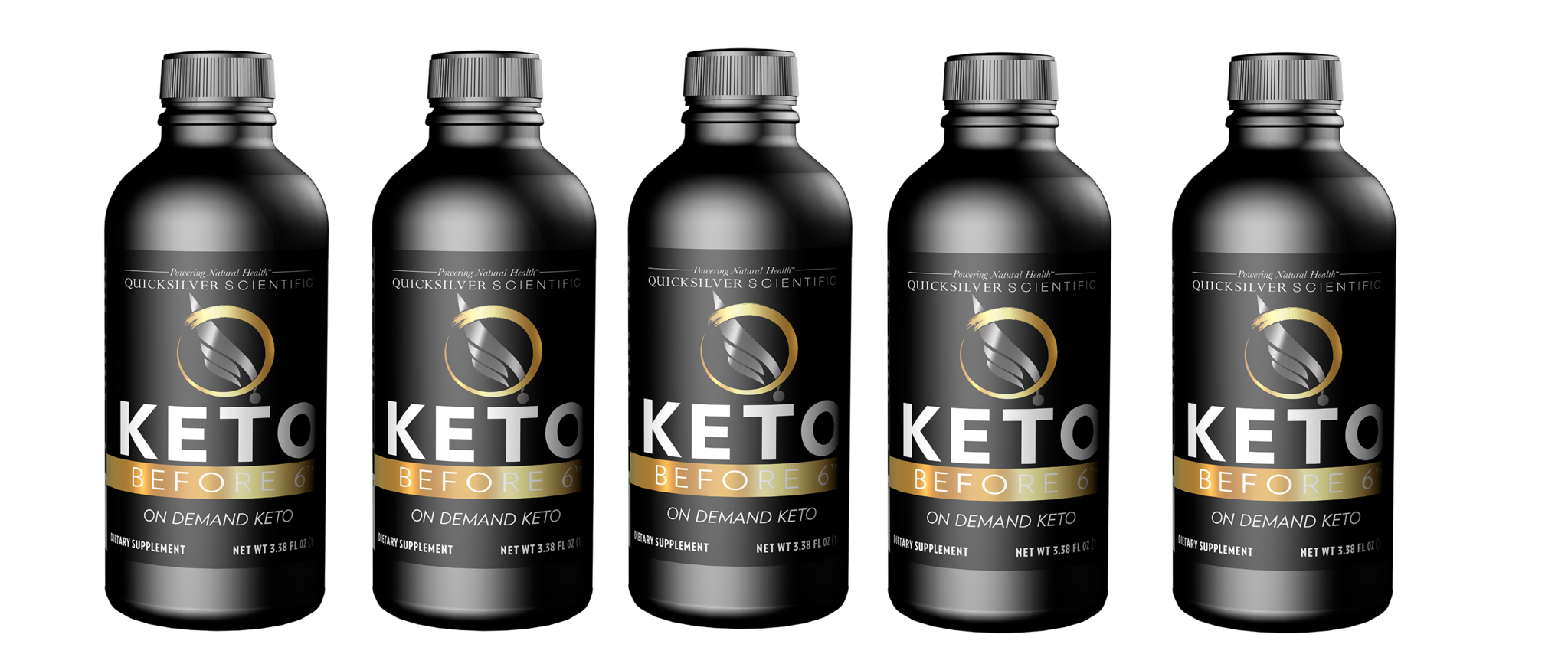 Quicksilver Scientific Keto Before 6™, 100ml, 5-pack