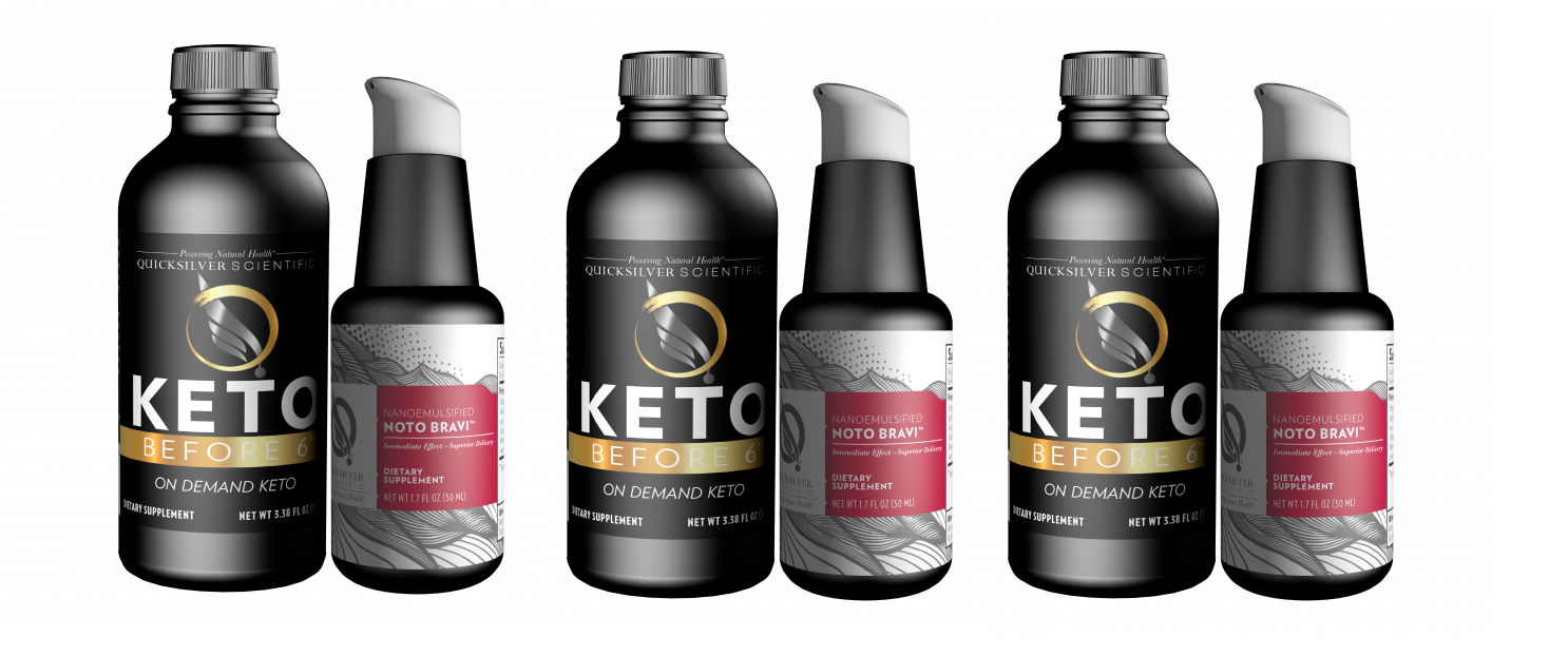 Quicksilver Scientific Keto Before 6™ Focus Kit, 3-pack