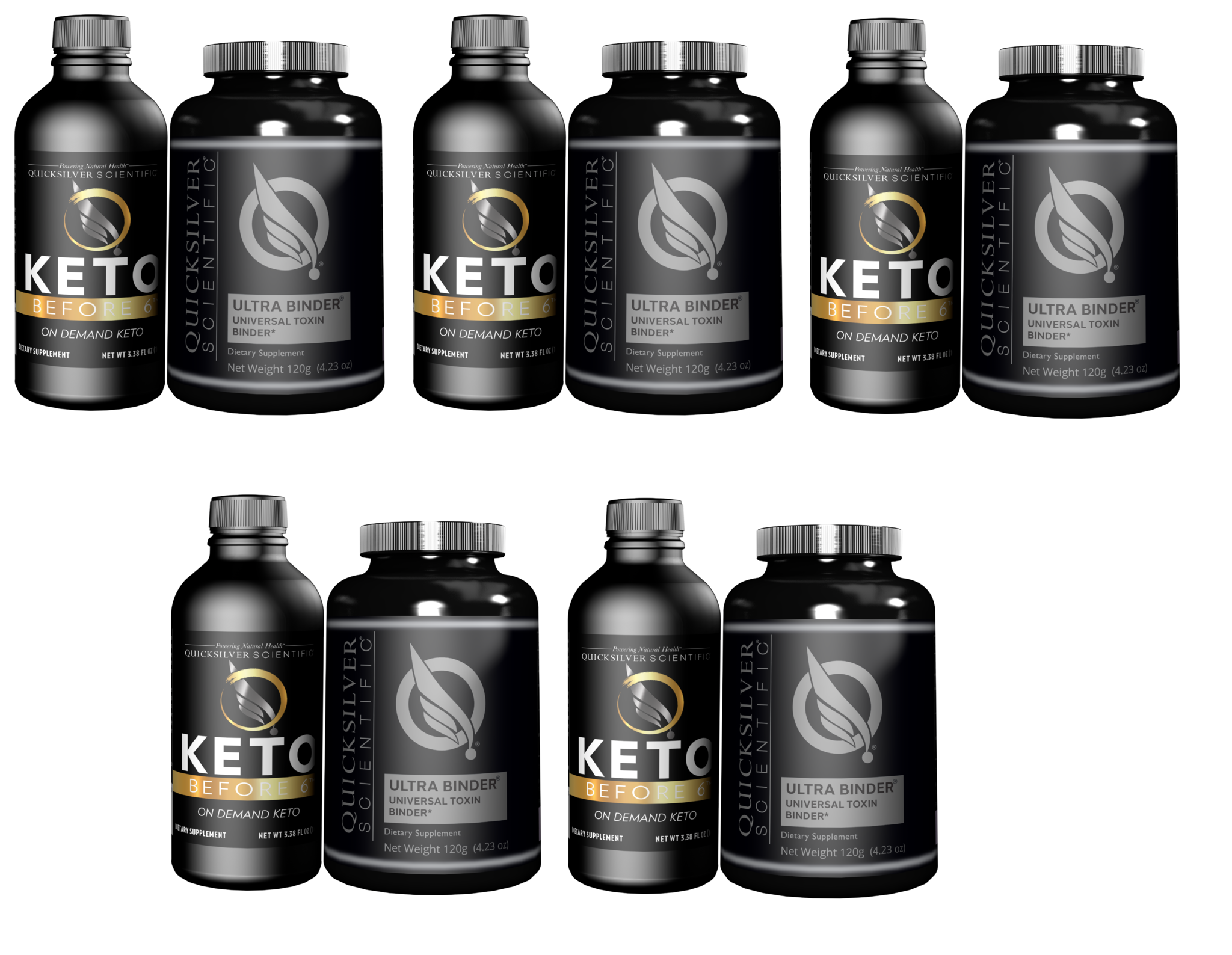 Quicksilver Scientific Keto Before 6™ Detox Kit, 5-pack