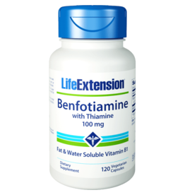 Life Extension Benfotiamine with Thiamine, 100 mg 120 vegetarian capsules