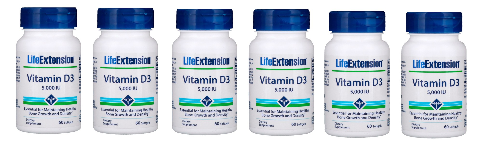Life Extension Vitamin D3 5000 IU, 6-packs