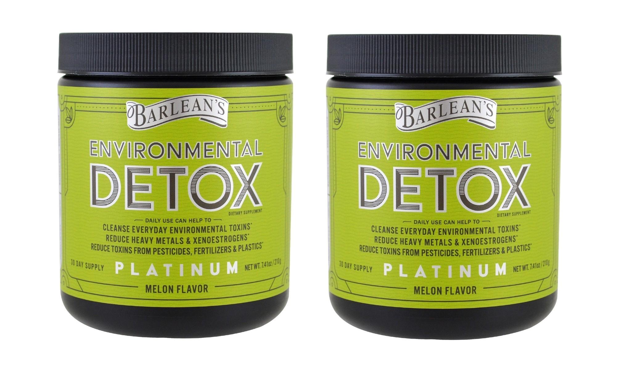 Barlean's Environmental Detox, Melon Flavor, 7.41 oz (210 g), 2-pack