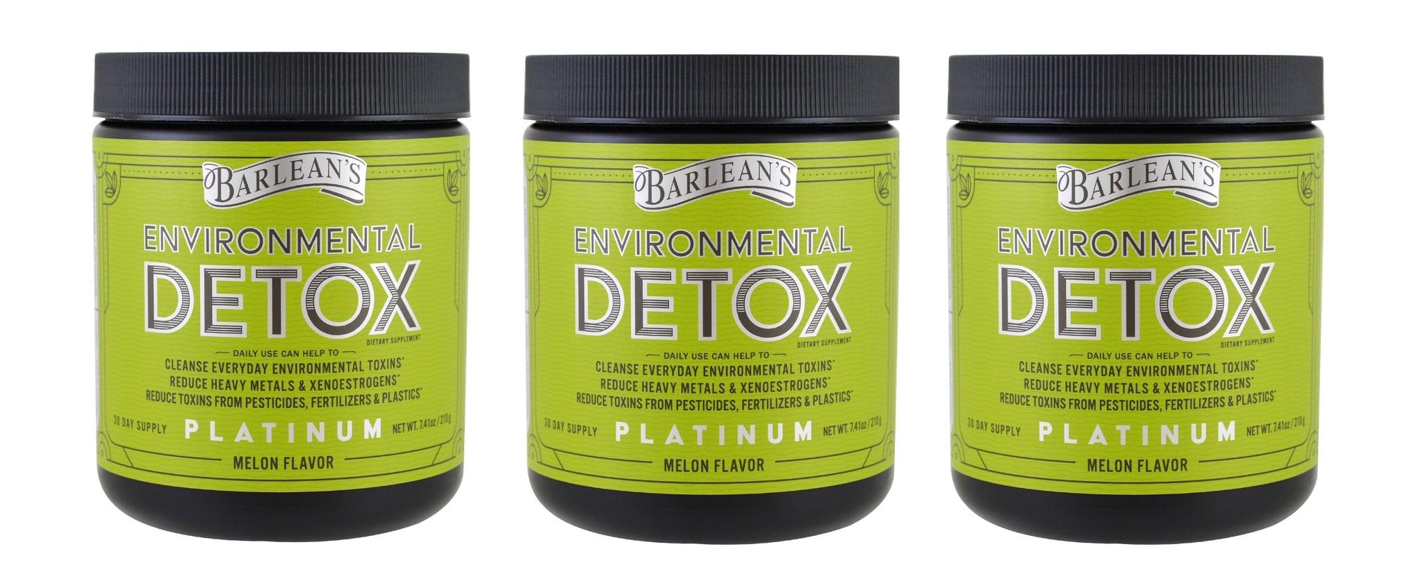Barlean's Environmental Detox, Melon Flavor, 7.41 oz (210 g), 3-pack