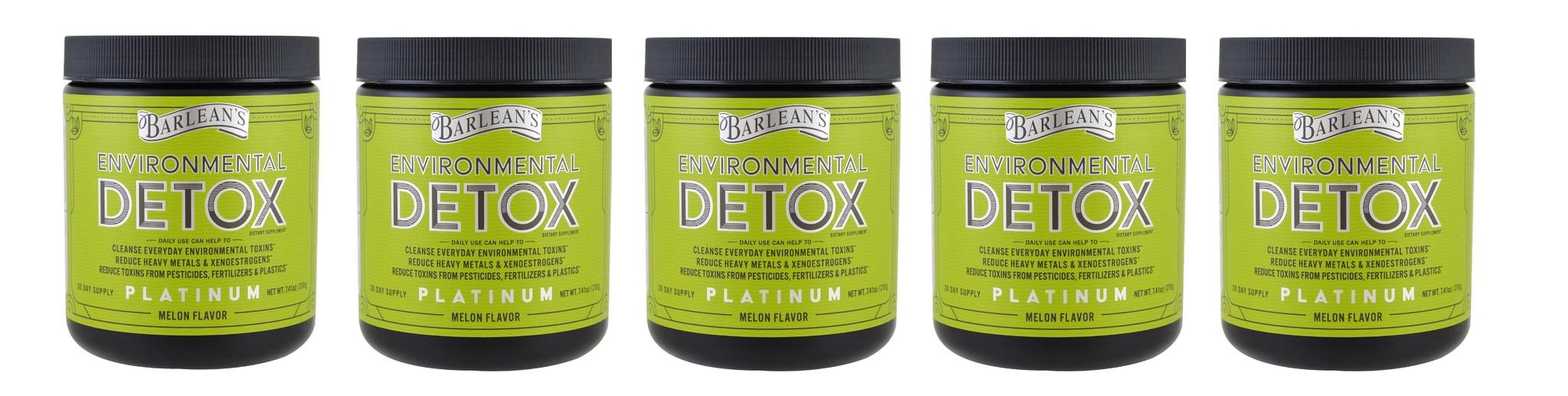 Barlean's Environmental Detox, Melon Flavor, 7.41 oz (210 g), 5-pack