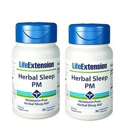 Life Extension Herbal Sleep PM, 30 Vegetarian Capsules, 2-packs