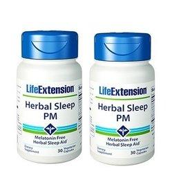 Life Extension Herbal Sleep PM, 30 Vegetarian Capsules, 2-packs