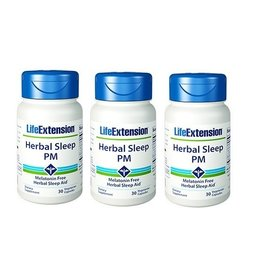 Life Extension Herbal Sleep PM, 30 Vegetarian Capsules, 3-packs