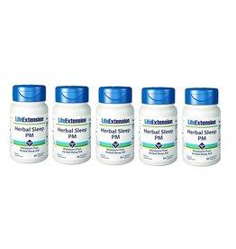 Life Extension Herbal Sleep PM, 30 Vegetarian Capsules, 5-packs