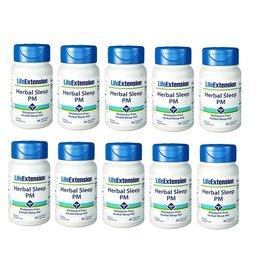 Life Extension Herbal Sleep PM, 30 Vegetarian Capsules, 10-packs