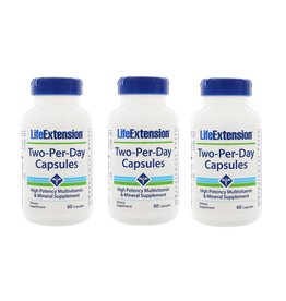 Life Extension Two-per-day Capsules, 60 Capsules, 3-packs