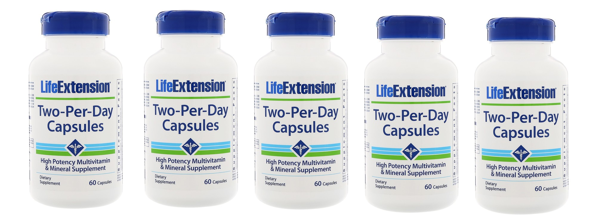 Life Extension Two-per-day Capsules, 60 Capsules, 5-packs