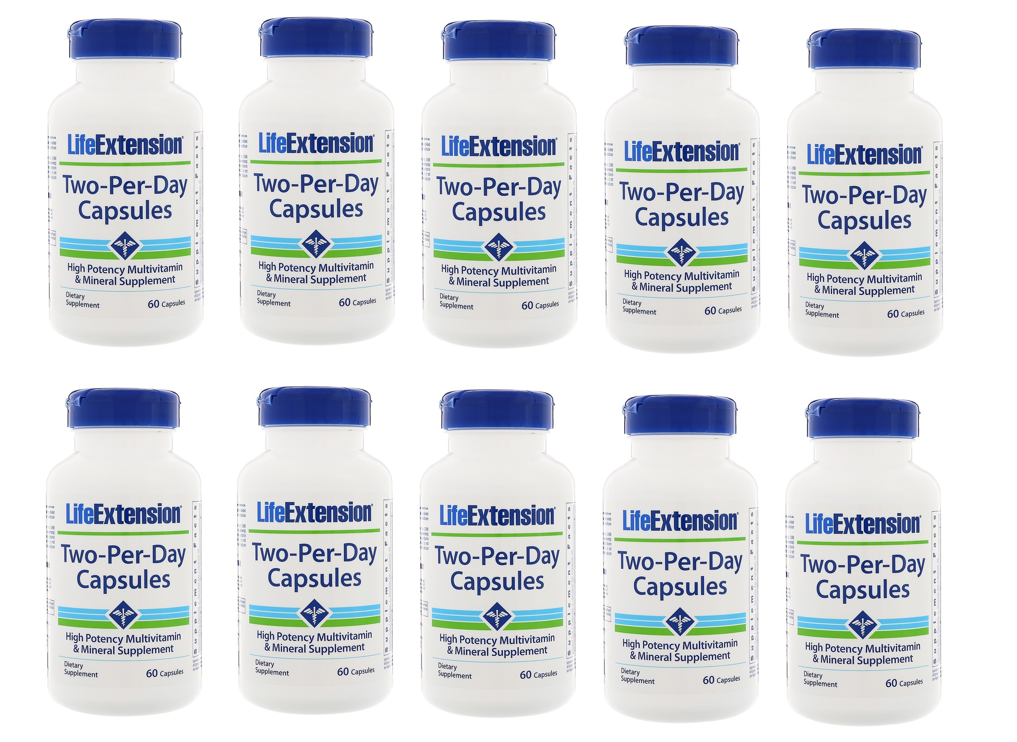 Life Extension Two-per-day Capsules, 60 Capsules, 10-packs