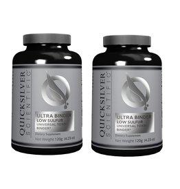 Quicksilver Scientific Ultra Binder Low Sulfur, Universal Toxin Binder, 120 g, 2-packs
