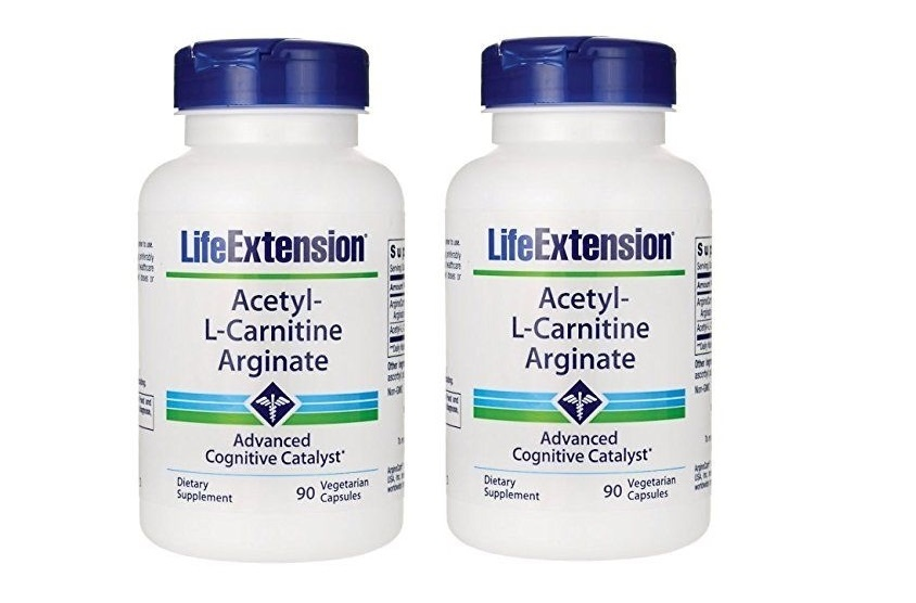 Life Extension Acetyl-l-carnitine Arginate, 90 Vegetarian Capsules, 2-pack