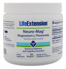 Life Extension Neuro-mag Magnesium L-threonate, Tropical Flavor Drink Mix, 3-packs