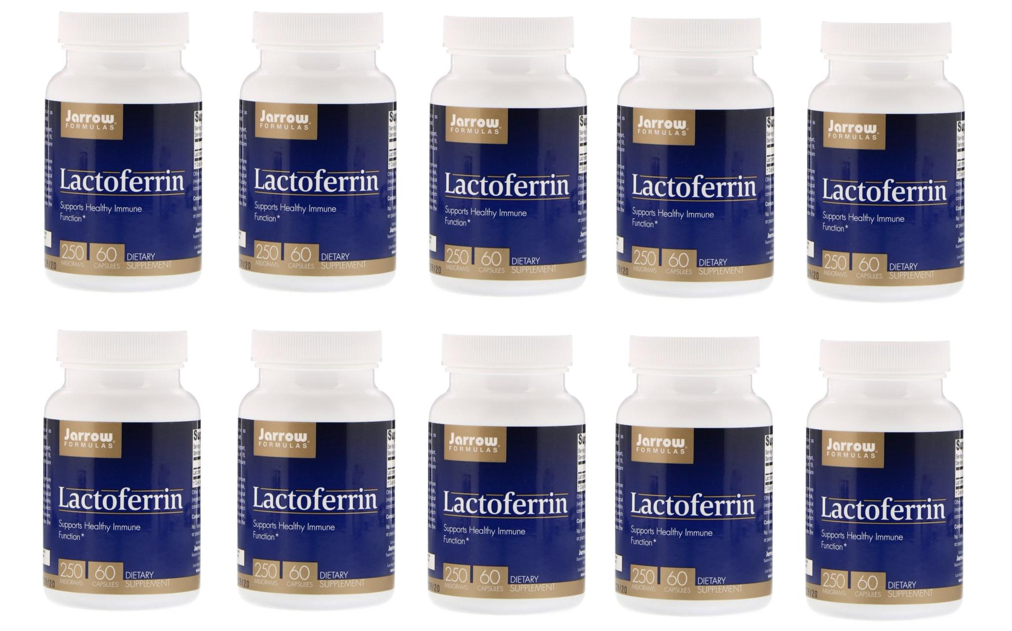 Jarrow Formulas Lactoferrin, 250 Mg, 60 Capsules, 10-packs