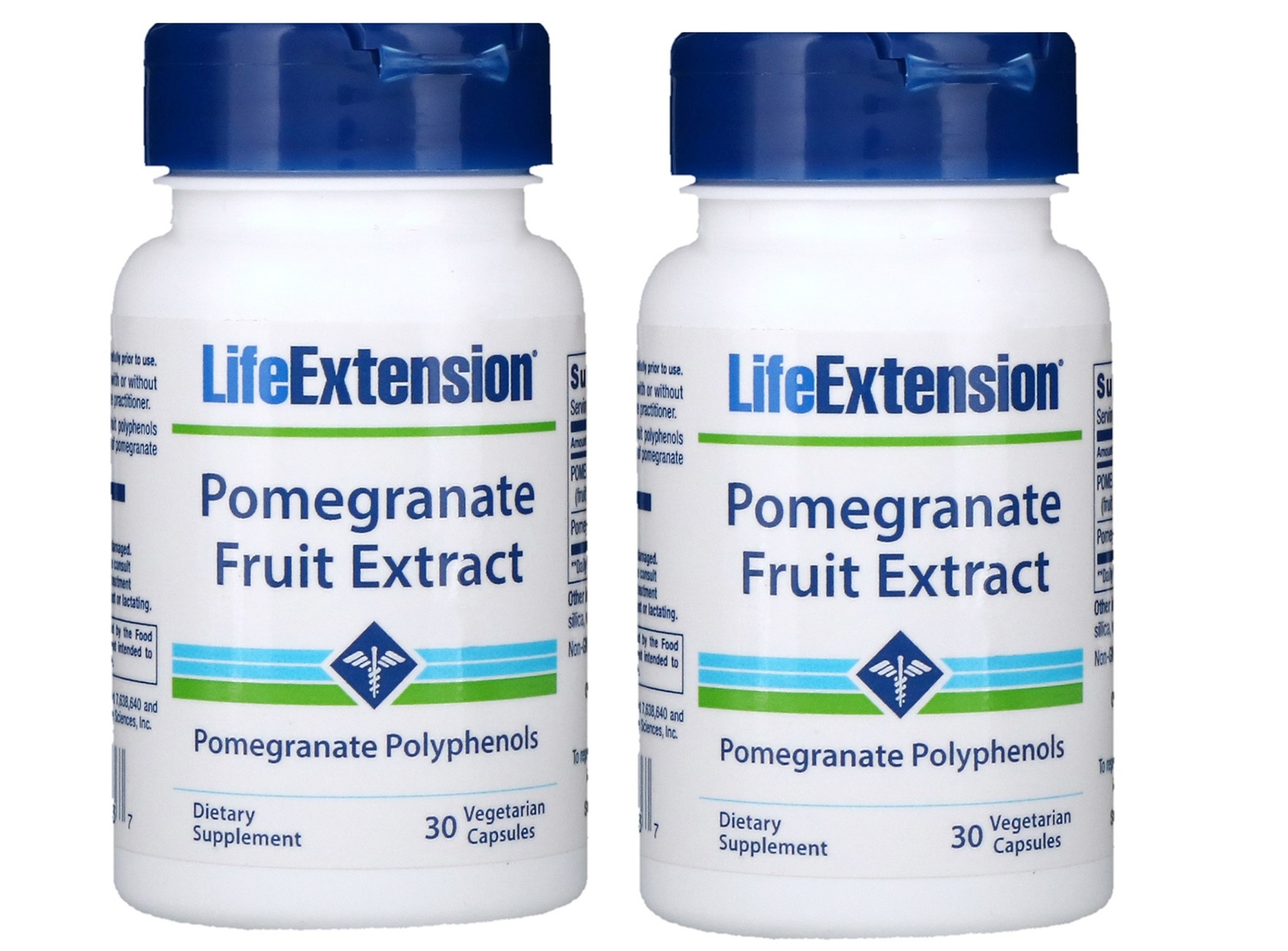 Life Extension Pomegranate Fruit Extract, 30 Vegetarian Capsules, 2-packs