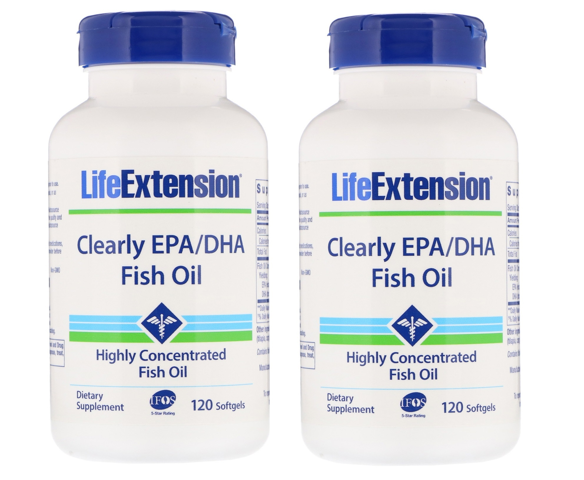 Life Extension Clearly EPA/DHA Fish Oil, 2-pack