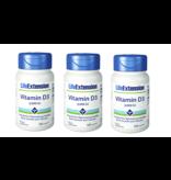 Life Extension Vitamin D3, 3,000 IU 120 Softgels, 3-packs