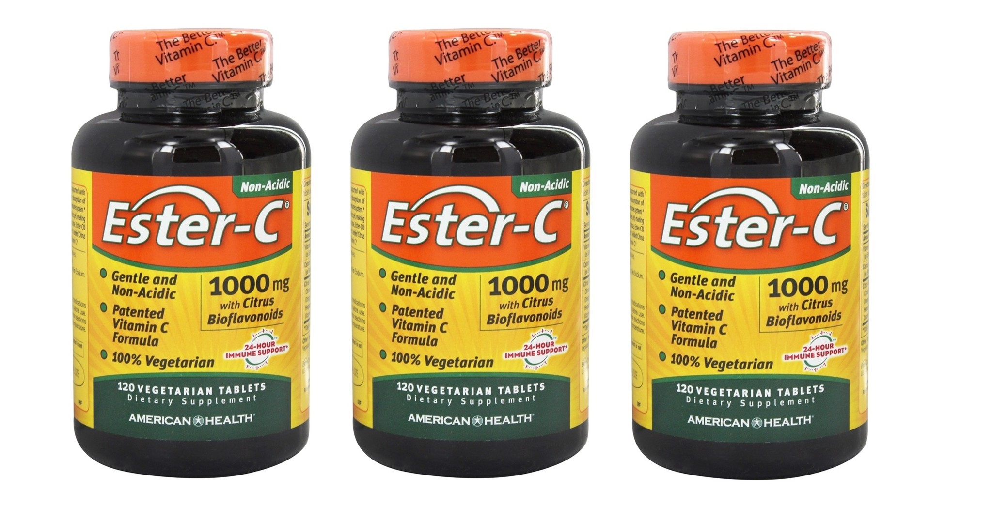 American Health Ester-C with Citrus Bioflavonoids 1000 mg, 120 Tablets, 3-packs