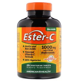 American Health Ester-C with Citrus Bioflavonoids 1000 mg, 180 Tablets, 2-packs