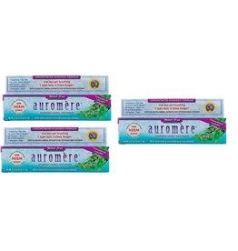 Dental Supps Auromere, Ayurvedic Herbal Toothpaste, Mint-free, 4.16 Oz, 3-pack